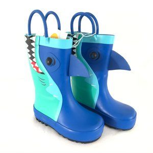 Cat & Jack Toddler Boys Cesar Rain Boots Shark 5